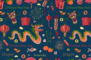 Seamless Chinese New Year pattern