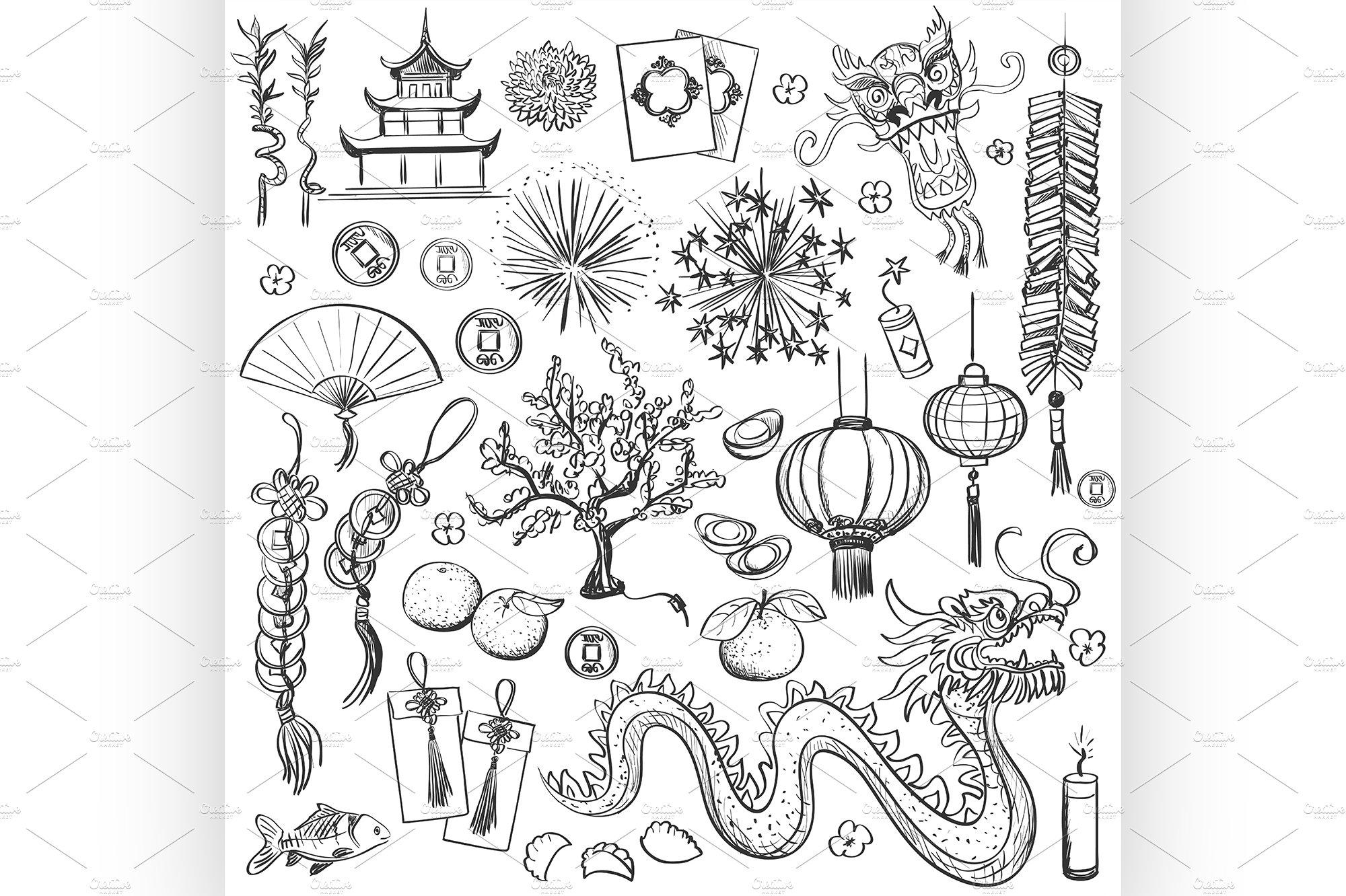 Chinese New Year Illustrations Creative Market