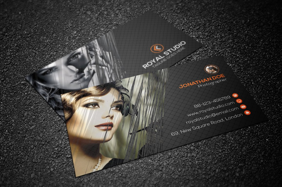 Photography business card business card templates creative market magicingreecefo Gallery