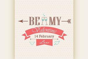 Valentines day emblem