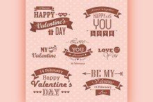 Valentines day set - labels