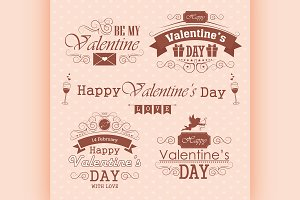 Valentines day set - labels
