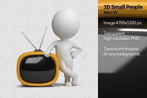 3D Small People - Retro TV