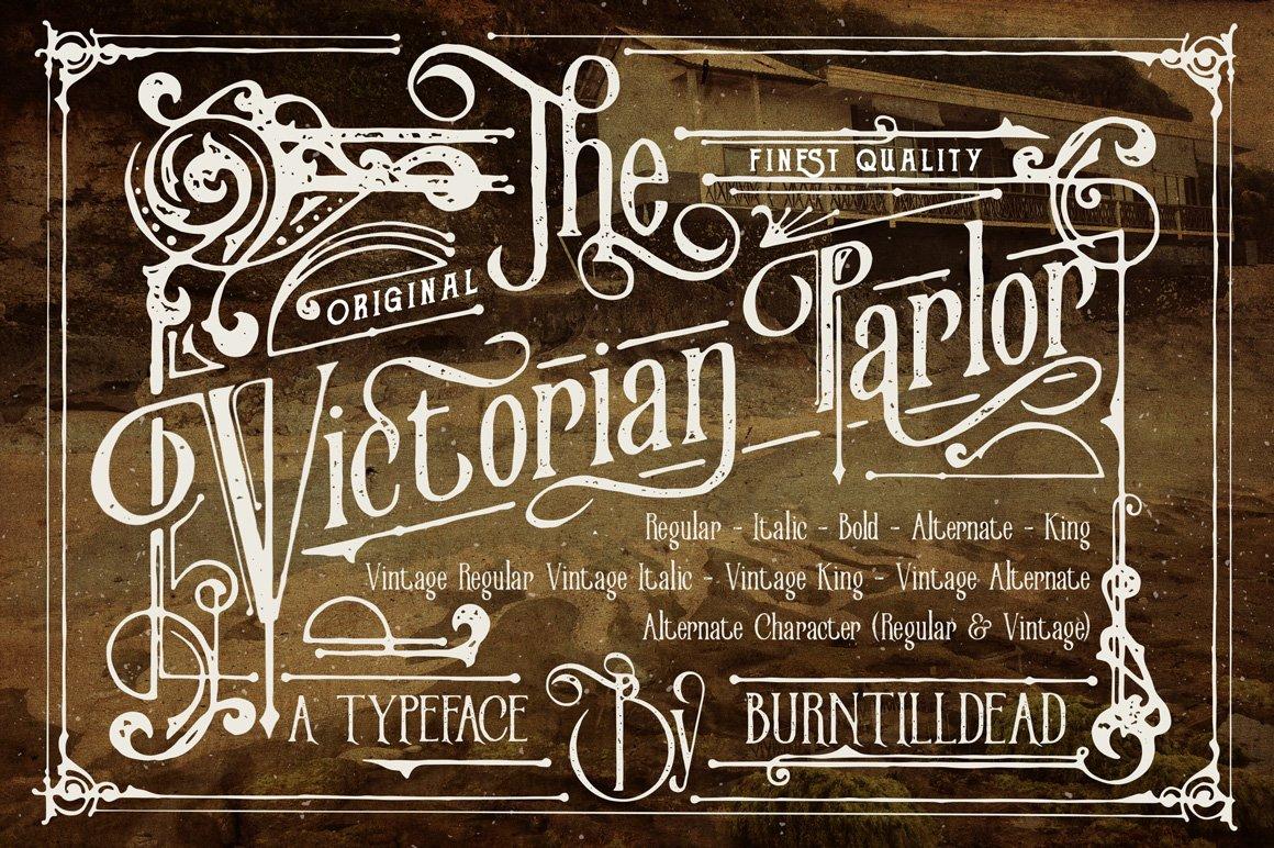 Victorian Parlor Serif Fonts Creative Market