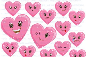 Heart Clipart Emoticons AMB-1172