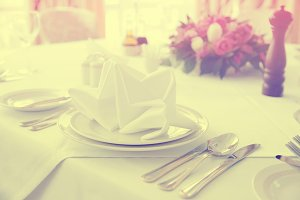 Place setting, toned photo
