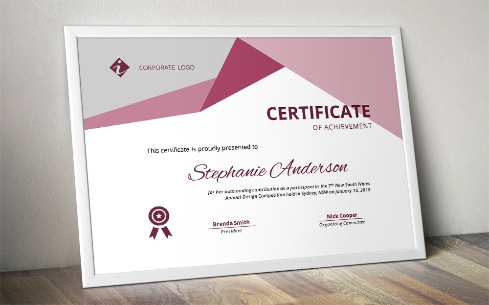 Word Docx Certificate Template Stationery Templates Creative Market