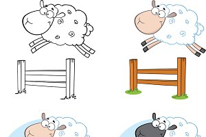 Sheep Cartoon Characters Collection