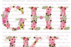 Floral Letter Clipart, AMB-1104B