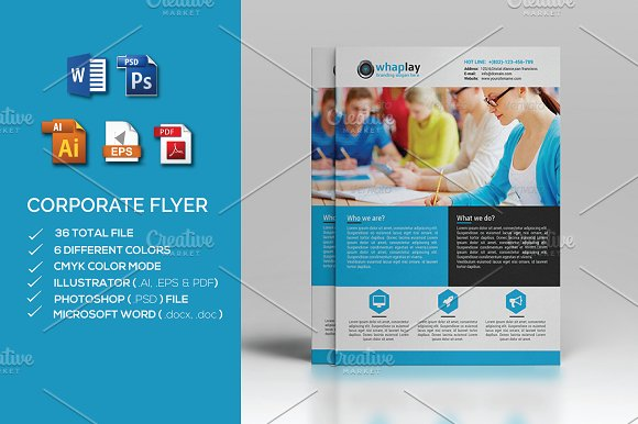 corporate flyer ms word flyer templates creative market