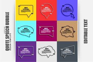 Quote Speech Bubble Vector