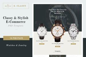 E-Classy - Luxury Shop PSD Template