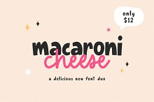 Macaroni Cheese Font Duo + Doodles