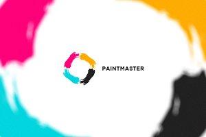 Paint Master - Letter O Logo