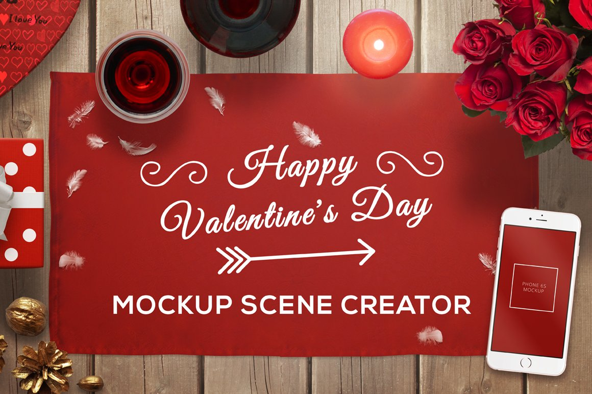 Valentine Mockup Scene Creator Scene Creator Mockups