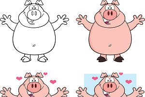 Pig Characters Collection - 5