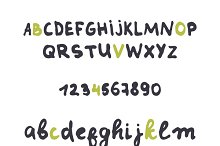 Font careless style handmade
