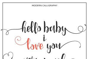 I love you. Calligraphic