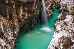 Emerald river in Slovenia