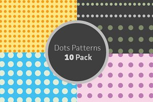 10 Dots Patterns (AI, EPS)