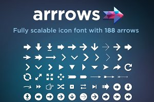 Arrrows Font