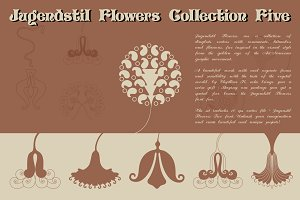 Jugendstil Flowers Collection Five