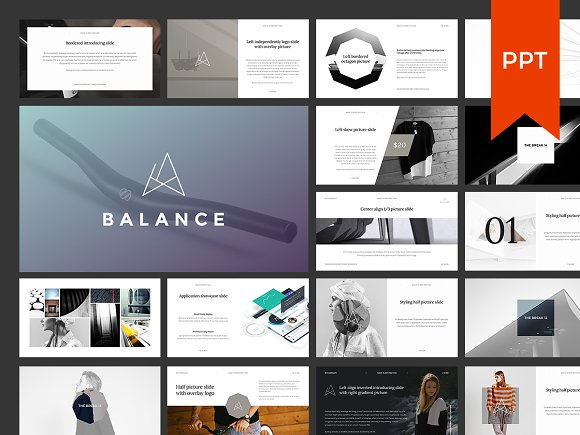 Balance ppt presentation gift presentation templates for Most professional powerpoint template