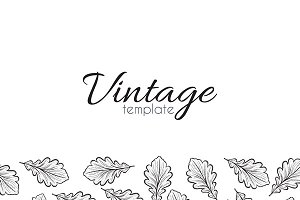 Design retro background leaves