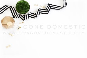 Styled Desk Photo - Bold Geometric