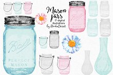 watercolor mason jar