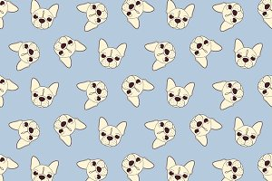 Seamless vintage pattern with dog