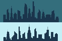 Silhouette of city in vector