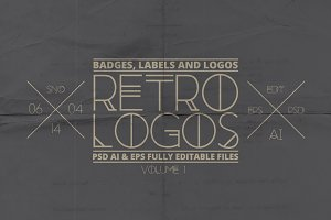 Retro Badges, Labels & Logos
