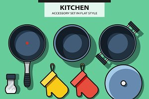 Set of kitchen subjects