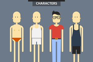 Set characters in different clothes