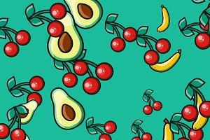 Stylish fruit background