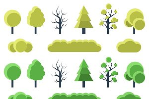Set of flat trees