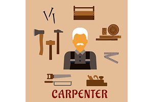 Carpenter with timber