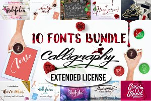 10 Bundle Calligraphy- Extended Lnc.