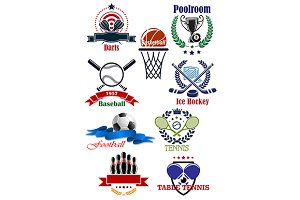 Team and individual sporting emblems