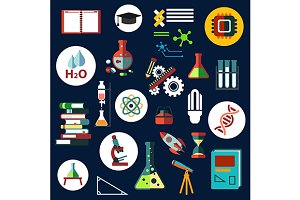 Science, education and research icon