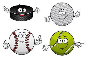 Golf, tennis, baseball, ice hockey