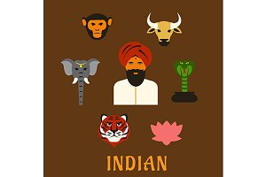 Indian animals and symbols