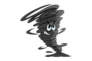 Danger dark gray tornado