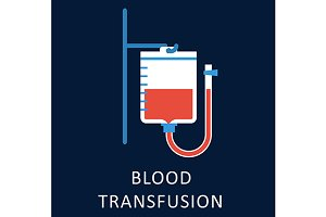 Blood transfusion flat icon