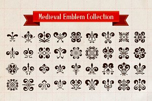 Medieval emblem collection