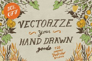 Vectorize Your Hand Drawn Goods+More