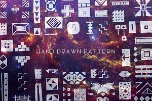 Hand Drawn Vector Brush & Pattern