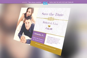 Royal Save the Date Postcard