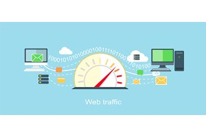Web Traffic Internet Icon
